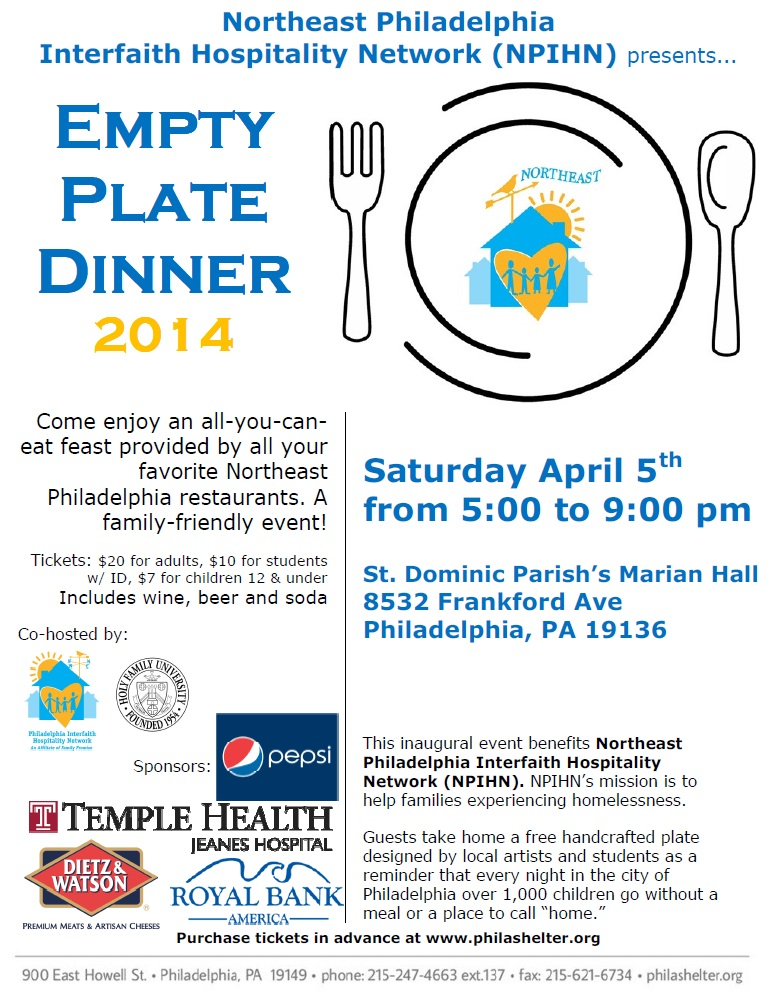 Empty Plate Flyer Color