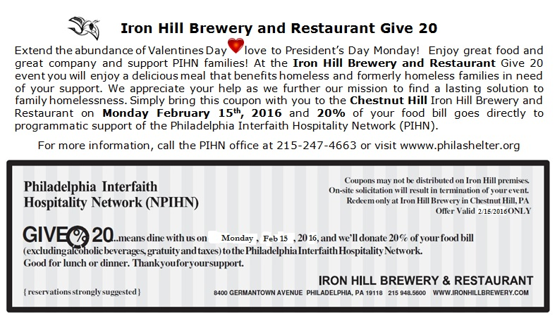 iron hill brewery 2016 flyer