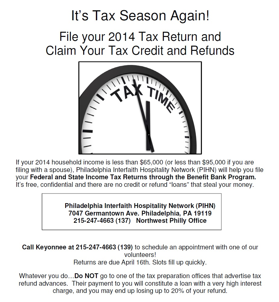 TaxCreditCounseling 2015 flyer