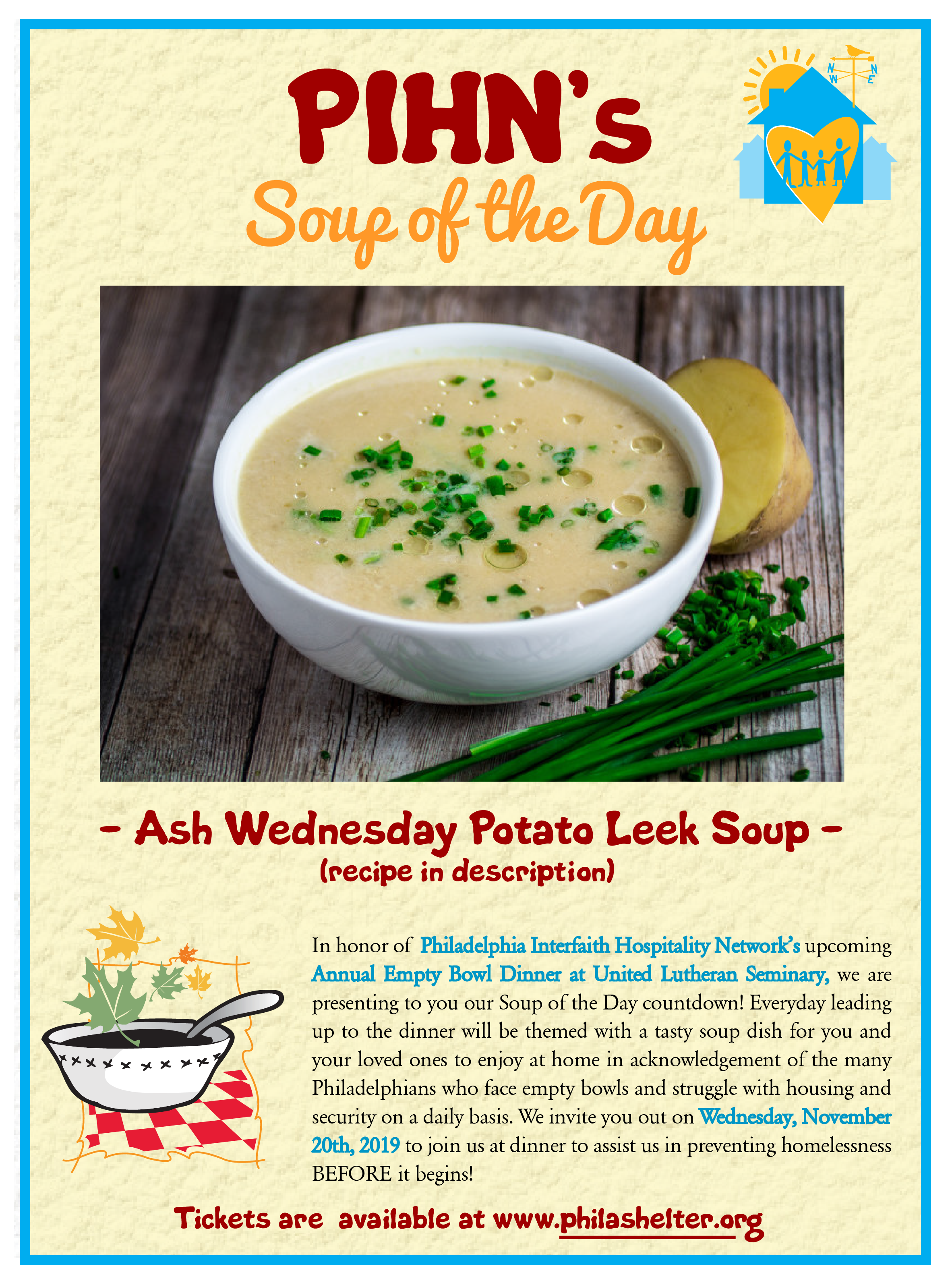 Ash Wednesday Potato Leek Soup